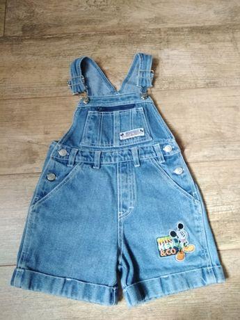 Spodenki ogrodniczki jeans / disney