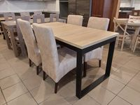 Zestaw stół + 4 krzesła tapicerowane   Domex Kluczbork   Dowóz na tel.