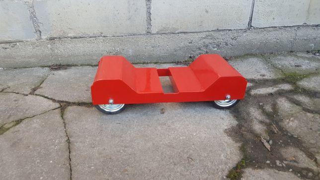 Wózek do aut pod urwane, zablokowane koło!