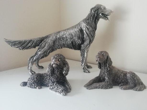 Estátuas de grande pormenor e qualidade  Conjunto 3 cães