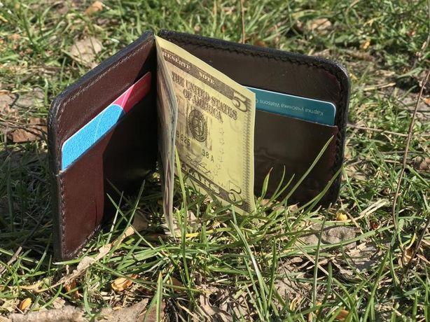 Зажим для денег из натуральной кожи (Leather Money Clip)