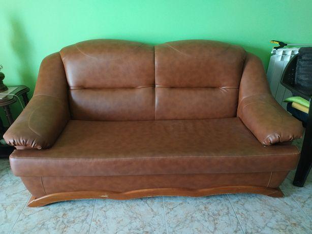 Conjunto sofás em napa