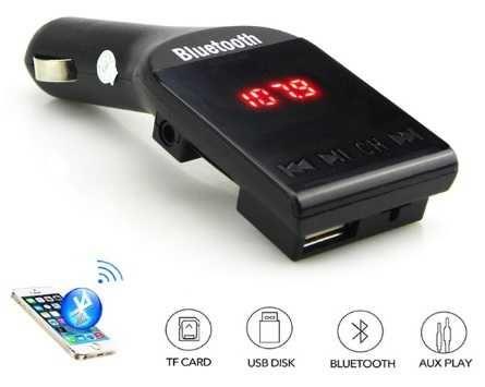 NOWY nadajnik transmiter FM Stereo Bluetooth LCD SD AUX USB