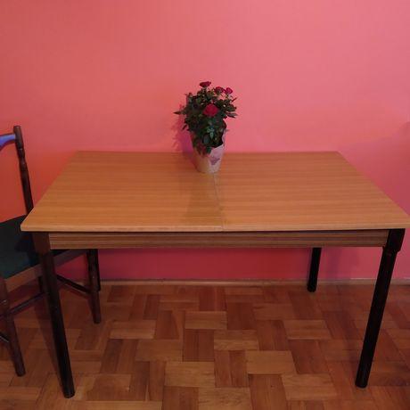 Stół i 4 krzesła PRL retro vintage
