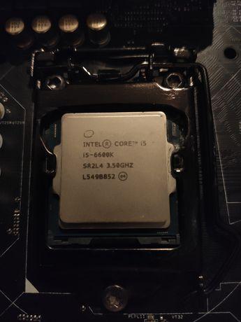 Procesor, Intel I5 6600k 3,5GHz, 4 rdzenie. Socket 1151.