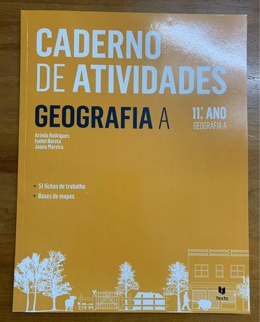 Caderno de atividades/preparar para o exame - Geofrafia A 11° ano