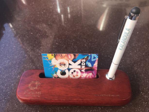 Porta caneta e cartoes visita