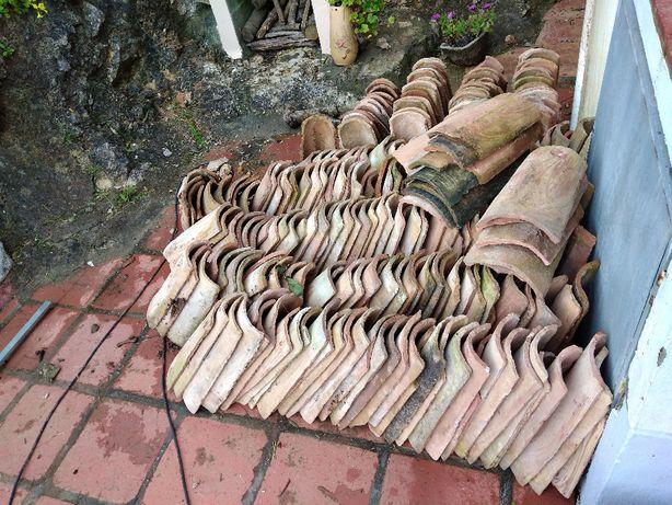 1000 Telhas antigas de canudo