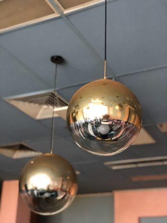 Люстра золотой шар Edison
