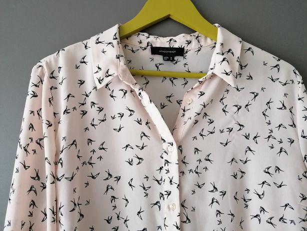 Bluzka, koszula  Atmosphere motyw ptaki BDB  46-48