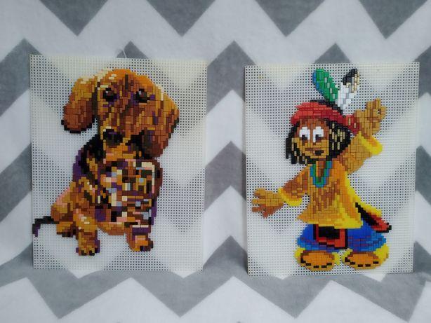 Mozaika obrazkowe x 2 indianin pies