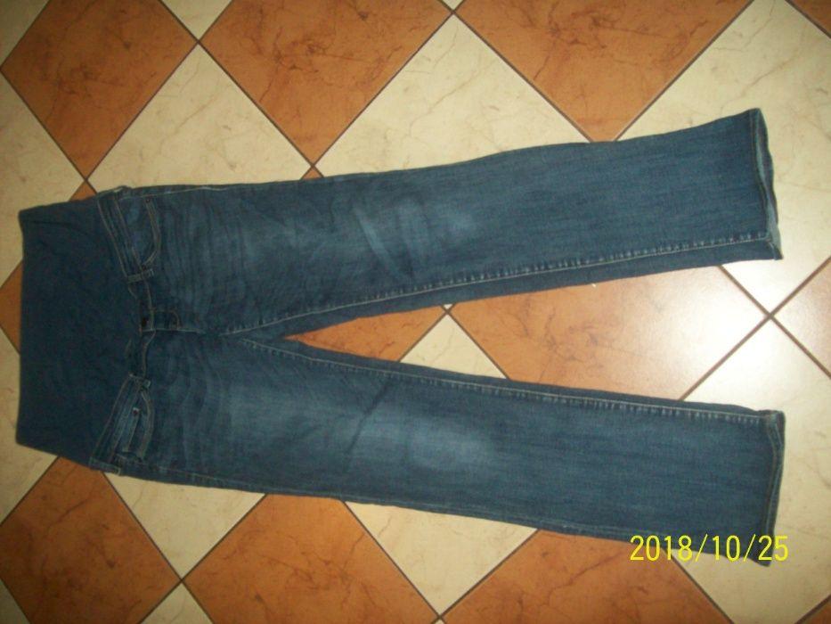 H&M Mama Straight High Rib spodnie ciążowe jeans rozm 44