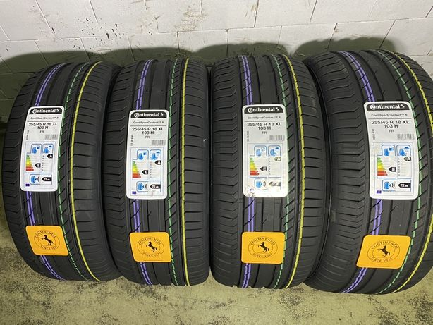 4x Continental ContiSportContact5  255/45/18 XL 103H / 2020 / Rant och