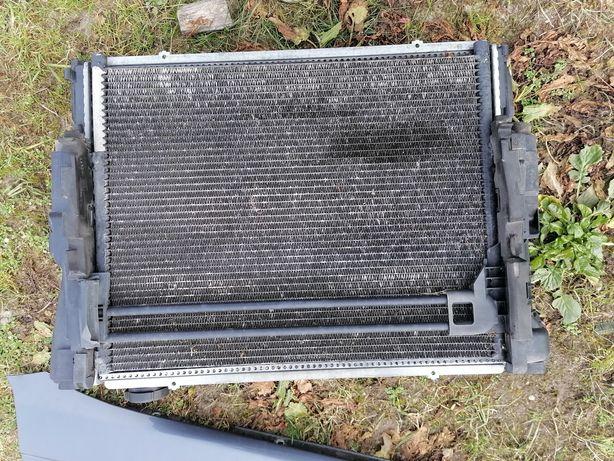 Komplet chłodnic wentylatory chłodnica wody klimatyzacji bmw e46 1.8b