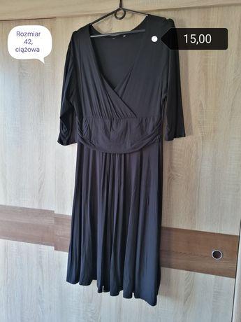Sukienka czarna ciazowa