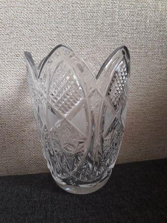 Шикарная хрустальная ваза на подарок / кришталева / подарунок