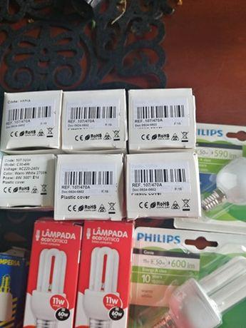 11 lâmpadas várias voltagens, económicas