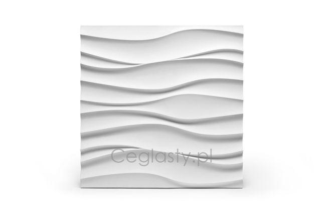 """Panel dekoracyjny GHY 3d """"FALA / WAVE"""" 50 x 50 gipsowy"""
