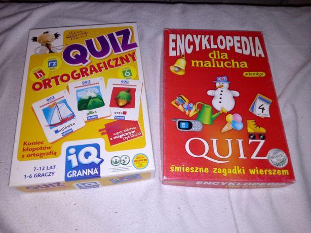 Gry dla dzieci Quiz ortograficzny i Encyklopedia