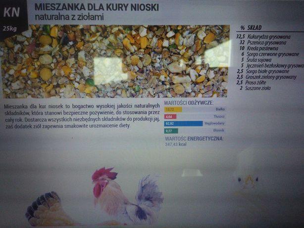 KN - kury nioski 100% naturalna mieszanka z dodatkiem ziół