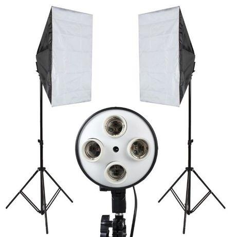 Постоянный студийный свет софтбокс 50х70 на 4 лампы + стойка SoftBox