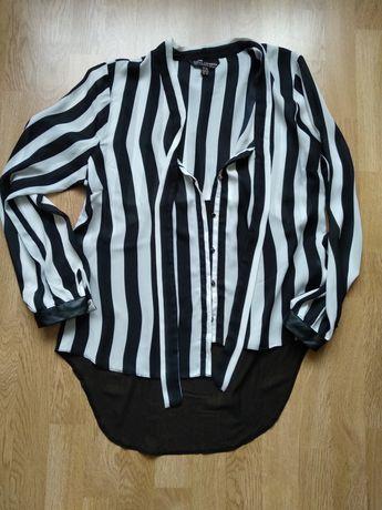 Блузка чёрно-белая в полоску