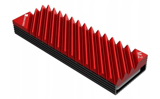 Radiator dysku SSD M.2 2280 NVMe SATA czerwony - fabrycznie nowy