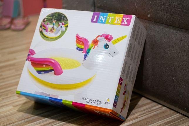 надувной бассейн Intex единорог с фонтаном