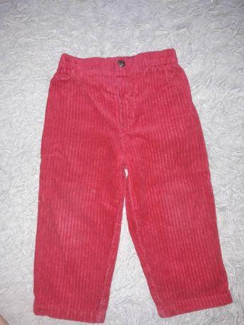 Вельветовые штанишки на рост 82-86 см