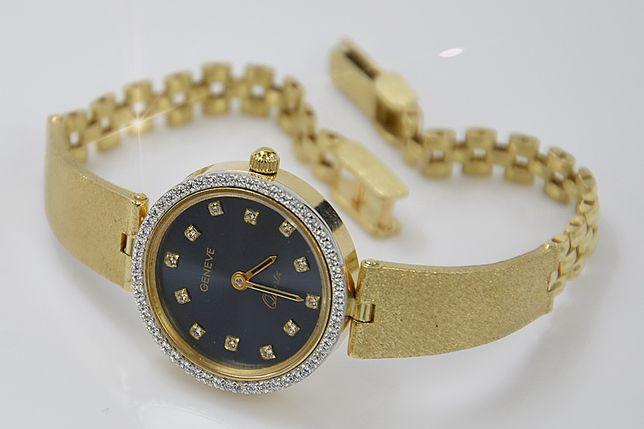 PRZEŚLICZNY złoty zegarek 14k NOWY 20,2g - NAJTANIEJ! lw080y B