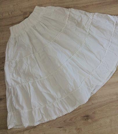 Воздушная белоснежная  натуральная юбка-клеш