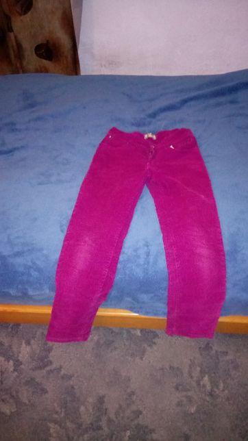 Spodnie ocieplane różowe dziewczęce