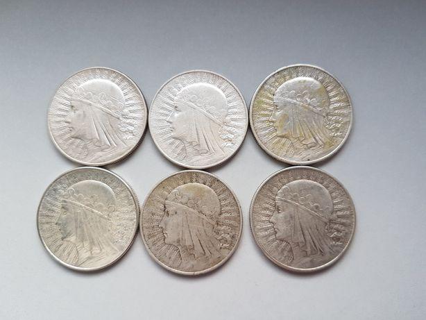 10zł Głowa Kobiety moneta srebro