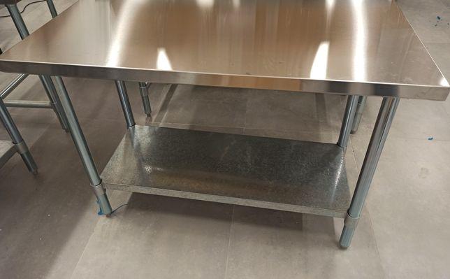 Nowy stół roboczy centralny 1.4 m stal nierdzewna/outlet