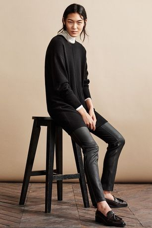 Кожаные брюки (100 % кожа) H&M Premium Quality/ Massimo, Maje