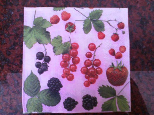Quadro / Tela de cozinha - Frutos Vermelhos (feita à mão) - NOVA