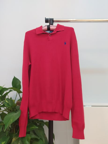 Sweter Ralph Lauren M polo czerwony