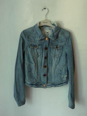 Katana jeans jeansowa river island niebieska katanka hit dziury 38