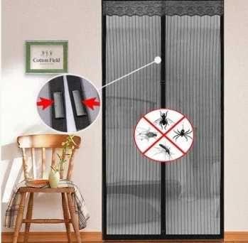 Москитная сетка-шторка ( двери)на магнитах 100*210 см
