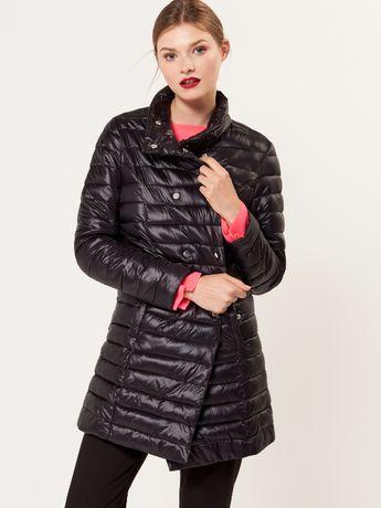 Женское демисезонное черное стеганое пальто куртка Mohito, размер M-L