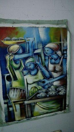 Tela de pintor Angolano