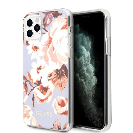 Etui GUESS - Flower Collection Iphone 11 Pro Liliowy Oryginalne