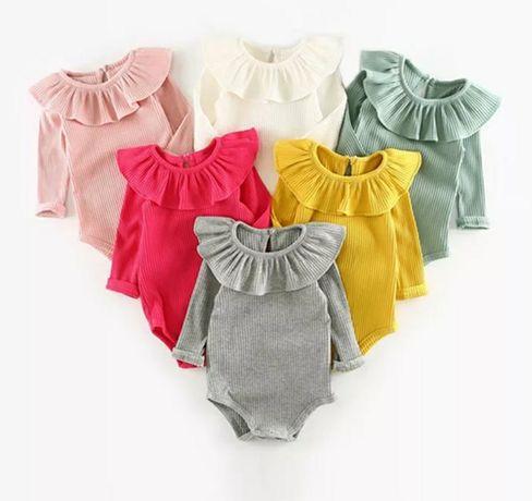 Модные боди в рубчик на малышек от 3 месяцев до 2 лет 62, 68, 74,80