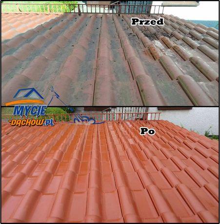 Mycie dachu. Czyszczenie elewacji kostki brukowej. #Mycie-dachow.pl