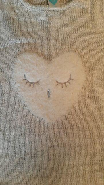Tunika 18 m-cy serce bluzka sweter r. 86