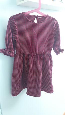 Sukienka dziewczęca rękaw 3/4 rozmiar 116