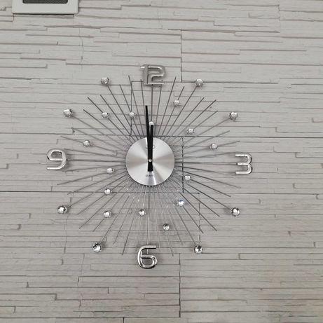 Duży zegar ścienny kryształki