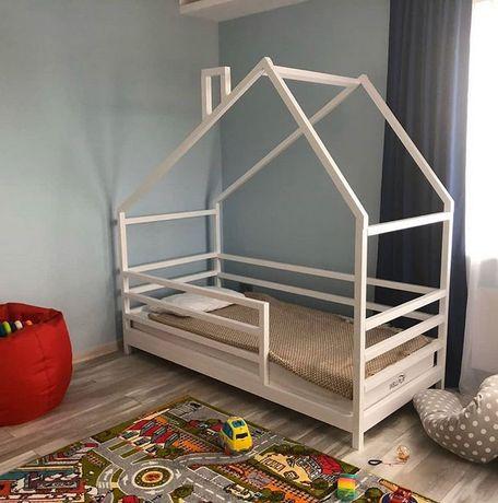 Кровать домик массив ольхи сосны.Будиночок ліжко дитяче.Дом.арт 19