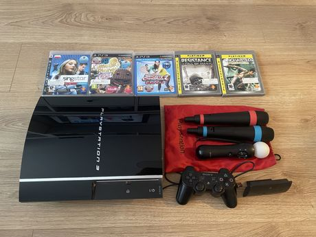 Playstation 3 - PS3 + 5 gier