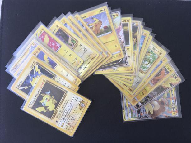 Cartas Pokemon HOLO/EN TCG (Pikachu/Raichu/Dragonite/Eevee/Outros)